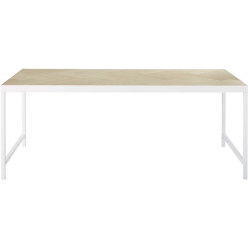 Parquet Slat Effect 6-Seater Dining Table W160 Zumi