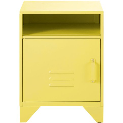 Pastel Yellow Metal Bedside Table Sunset universe