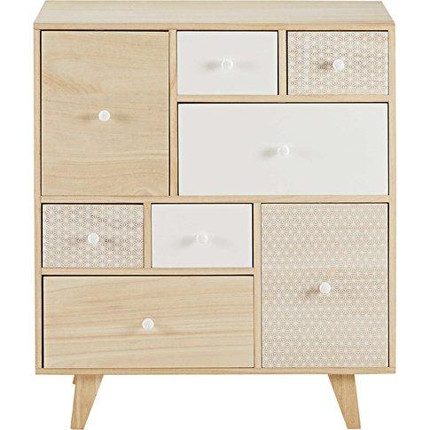 Paulownia 8-Drawer Cabinet Spring