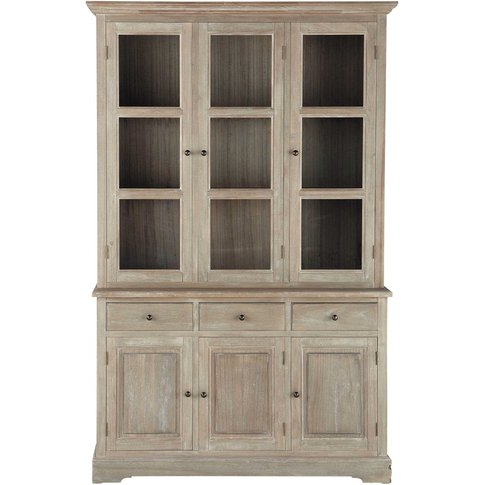 Paulownia China Cabinet, 6 doors 3 drawers Cavaillon