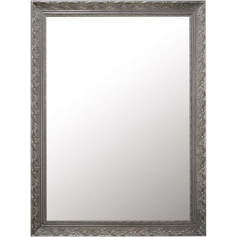 Paulownia Mirror In Silver 90x120