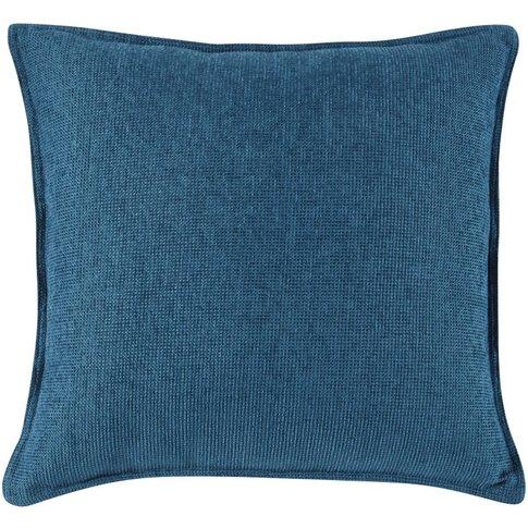 Peacock Blue Velvet Cushion 60x60