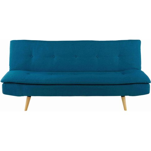 Petrol Blue 2/3-Seater Sofa Bed Dakota