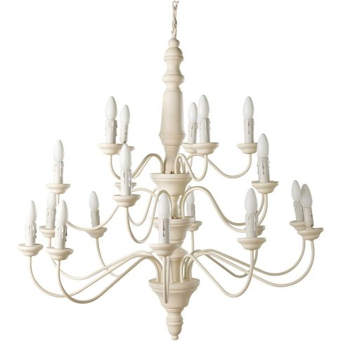 Pine And Creme Colour Metal Chandelier
