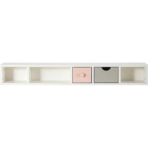 Pink and Grey 2-Drawer Desk Storage Module Blush