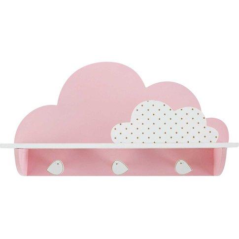 Pink Cloud 3-Hook Coat Rack