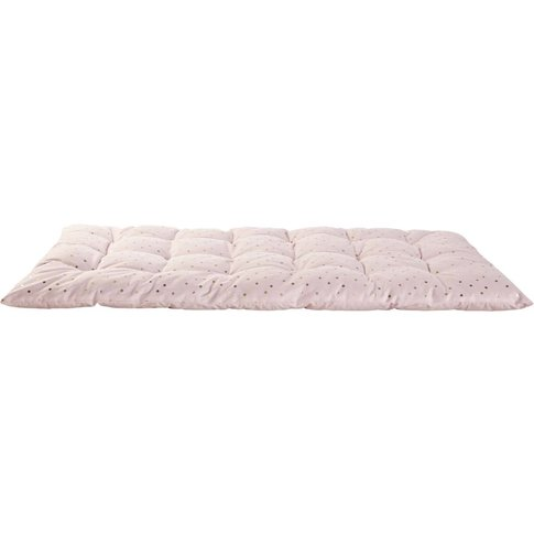 Pink Cotton Futon with Polka Dots 60x120