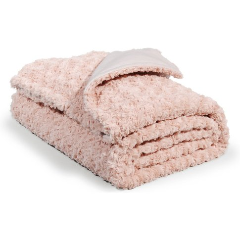 Pink Faux Fur Throw 125x150