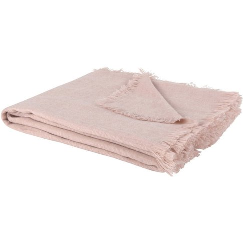 Pink Fringed Blanket 125x150