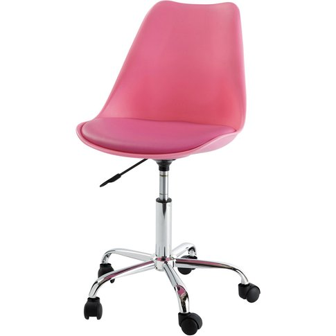 Pink Office Chair on Casters Bristol