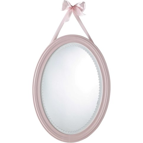 Pink Oval Mirror 40x55