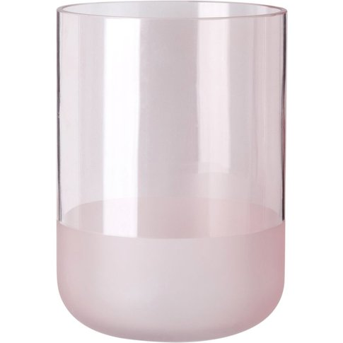 Pink Tinted Glass Vase H18