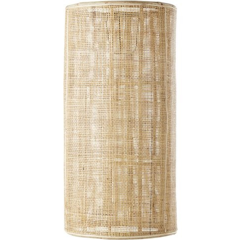 Plant Fibre Shade For Cylindrical Pendant Light