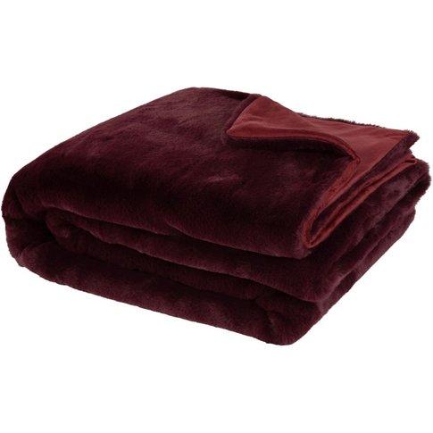 Plum Knit Blanket 150x180
