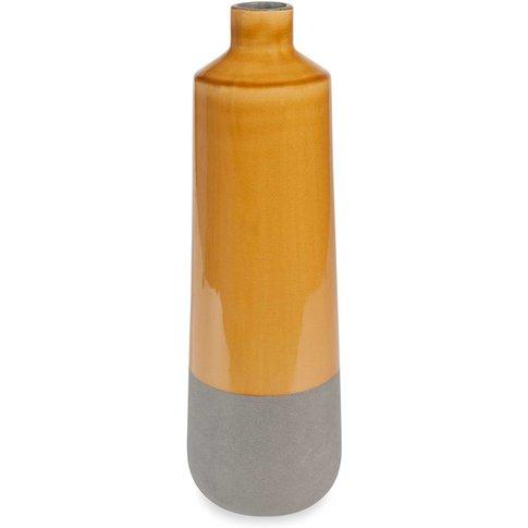 Portobello Yellow Ceramic Vase, H43cm