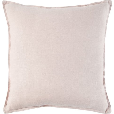 Powder Pink Washed Linen Cushion 60x60