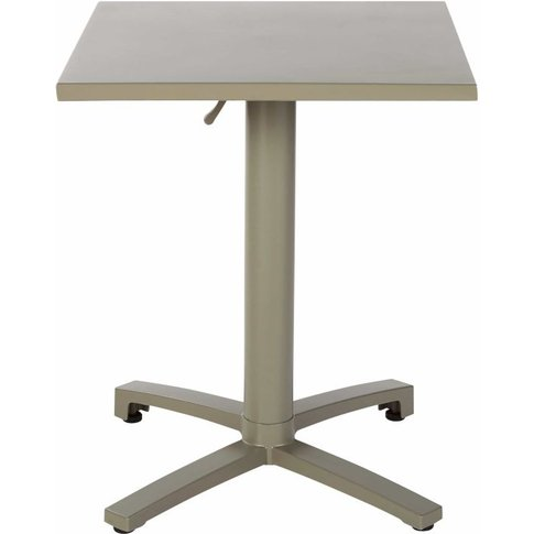 Professional Khaki Metal Garden Table W60 Pia Pro