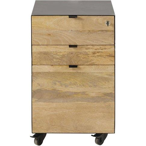 Professional Quality Mango Wood And Metal Desk Drawe...