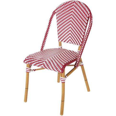 Professional Red and White Woven Resin Garden Chair ...