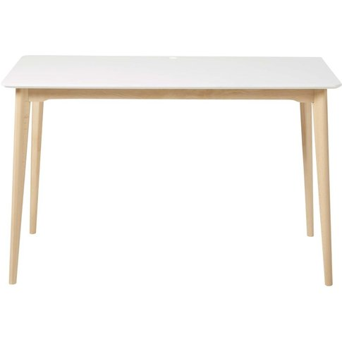 Professional White Solid Beech Desk Mimo Business