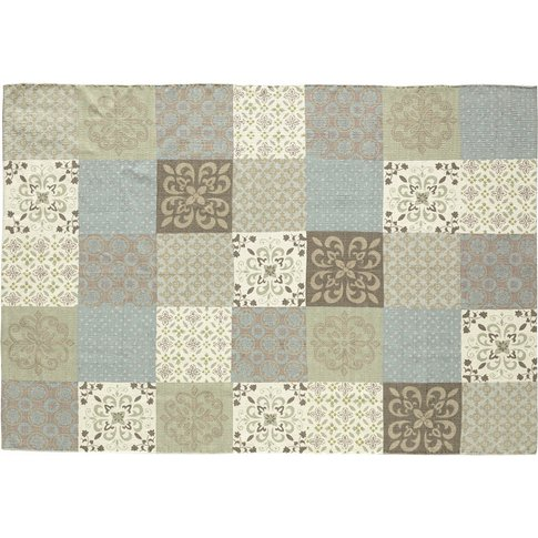 PROVENCE rug with cement tile motif 160 x 230 cm