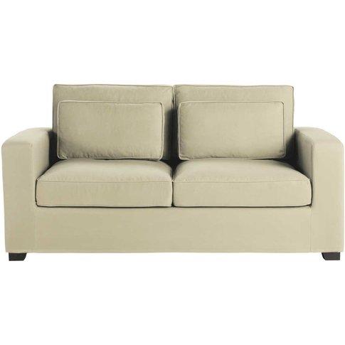 Putty 2/3 Seater Cotton Sofa Bed, Mattress 12 Cm Milano