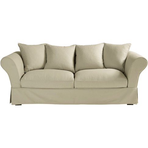 Putty 3/4 Seater Cotton Sofa Bed Roma