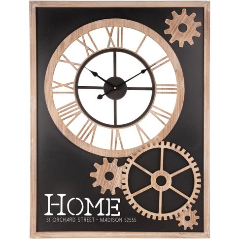 Rectangular Cog Clock 60x80