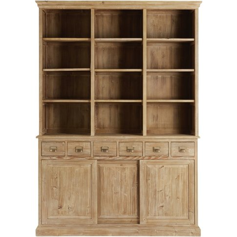 Recycled Pine 6-Drawer 3-Door Bookcase Botanica
