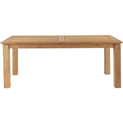 Recycled teak extending garden table W200 Cassiopee