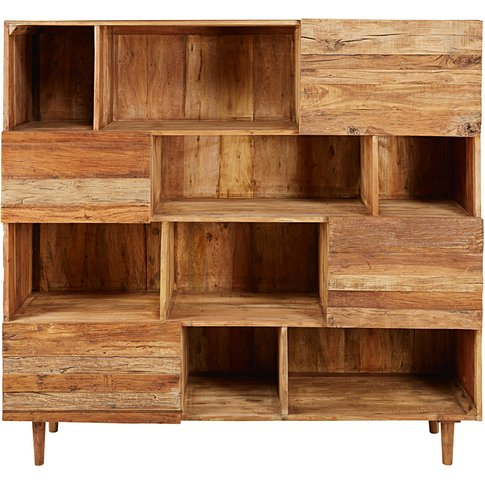 Recycled Wood 4-Door Bookcase Tennessee