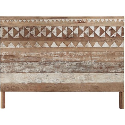 Recycled Wood Patterned Headboard W 160cm Tikka