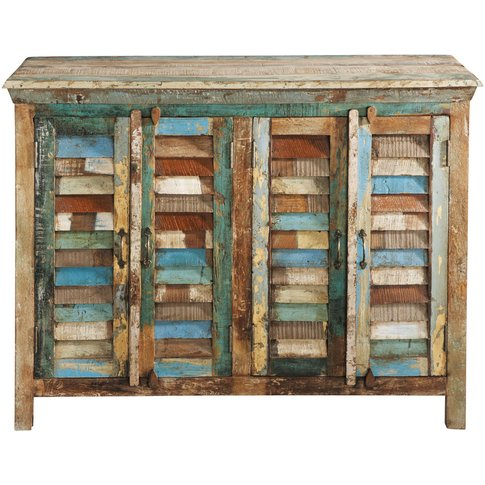 Recycled Wood Sideboard, Multicoloured W 120cm Calanque