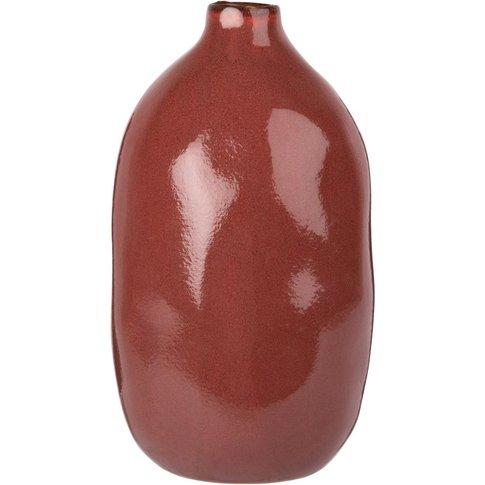 Red Ceramic Vase H22
