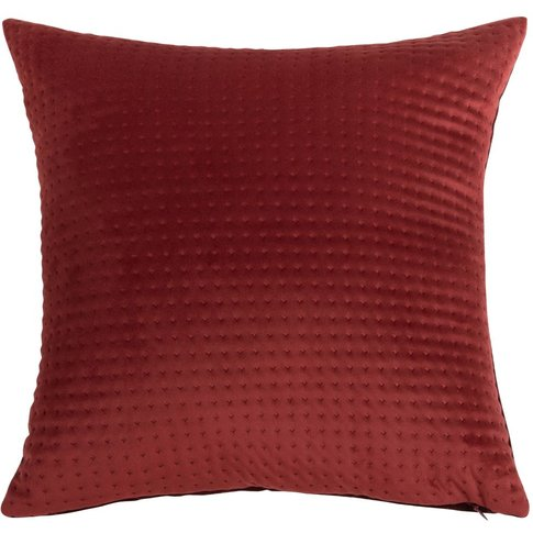 Red Cotton Cushion Cover with Print 40x40