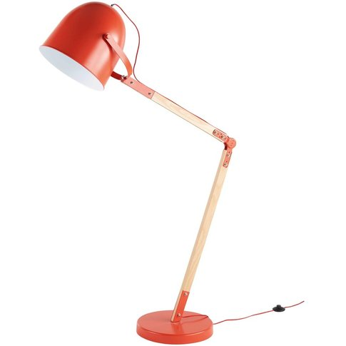 Red Metal Floor Lamp H 164 cm