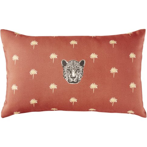 Red Outdoor Cushion with Print 30x50