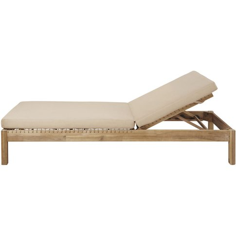 Resin Wicker and Light Taupe Canvas Sun Lounger Maupiti