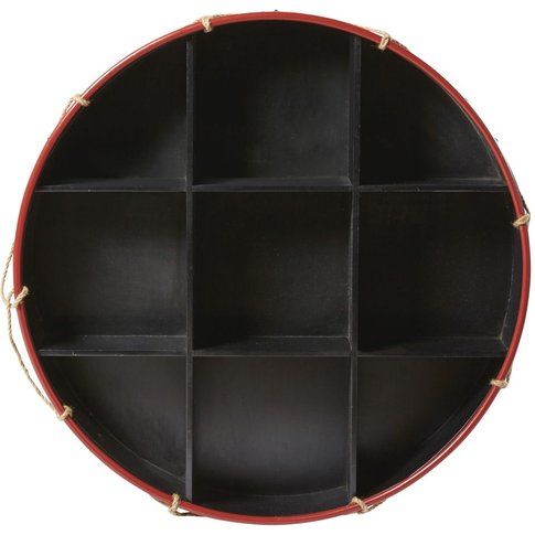 Round Black Fir And Cord Shelving Unit