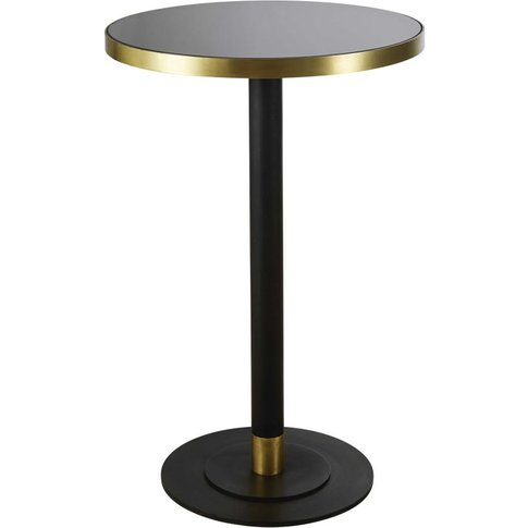 Round Black Tempered Glass 1/2-Seater Tall Dining Ta...