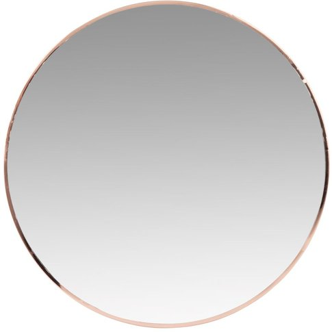 Round Copper Metal Mirror D40