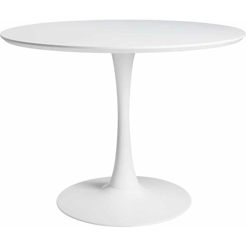 Round Dining Table In White D 100 Cm Circle