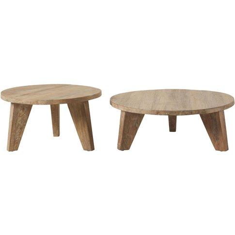 Round Elm Nesting Tables Nikos