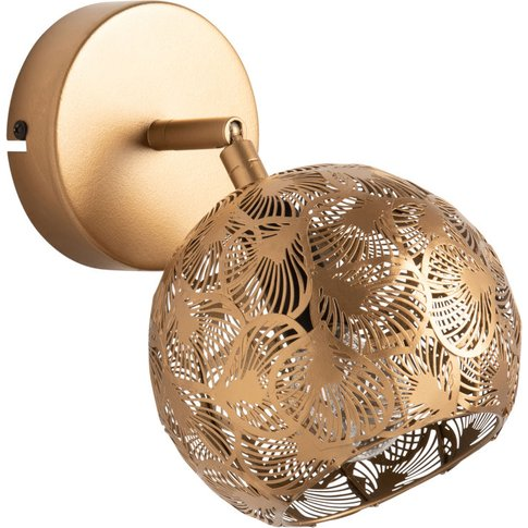 Round Gold Cut-Out Metal Wall Light