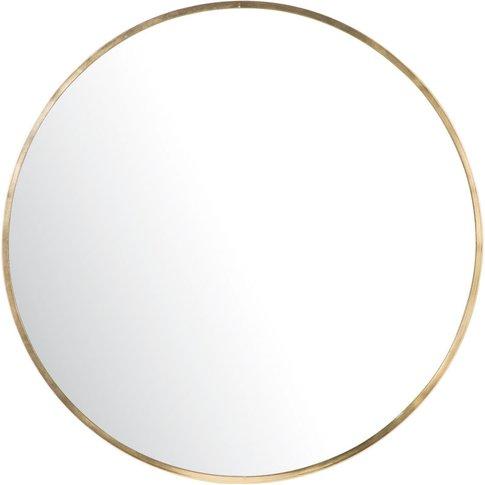 Round Gold Metal Mirror D101