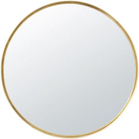 Round Gold Metal Mirror D110
