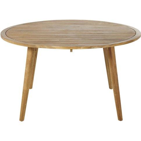 Round Solid Acacia 6-Seater Garden Table D140 Noumea