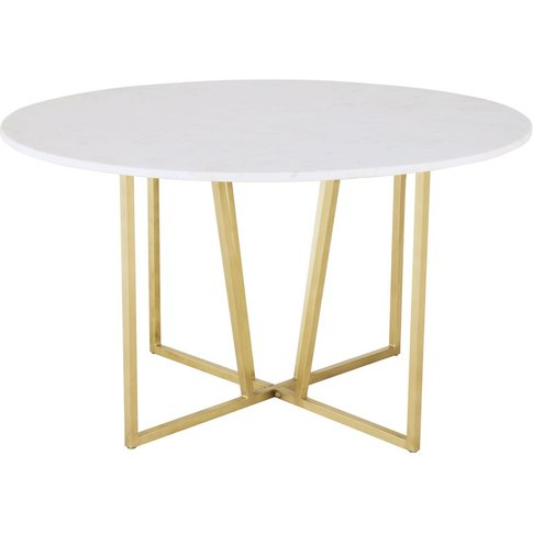 Round White Marble 6/7-Seater Dining Table D130 Midtown