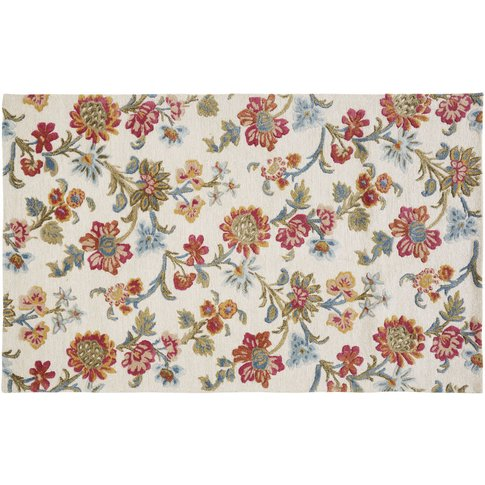 Rug with Multicoloured Floral Print 140x200