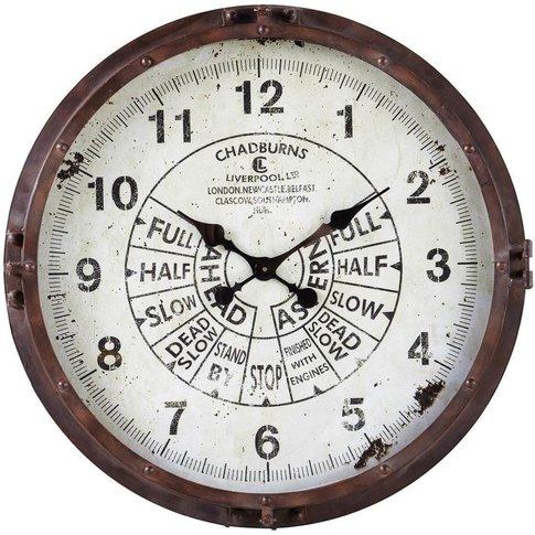 Rusted Look Metal Clock D72